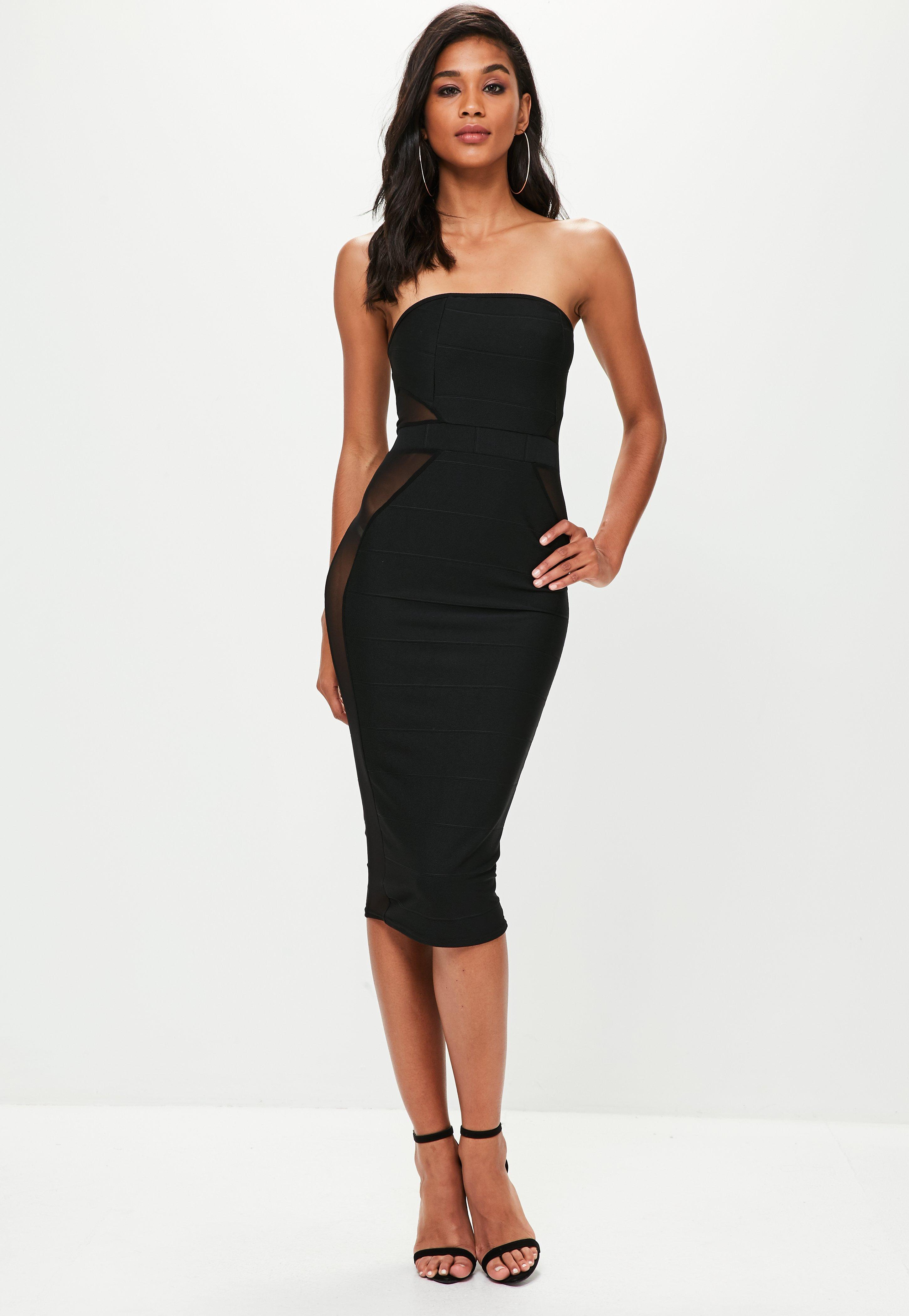 Midi Dress - Knee Length Dresses with Sleeves   Missguided