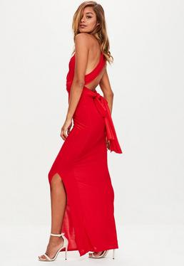 Red Slinky Multiway Maxi Dress