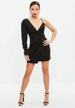 Black Blazer Shift Dress