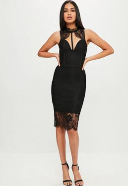 Black Premium Bandage Lace Dress