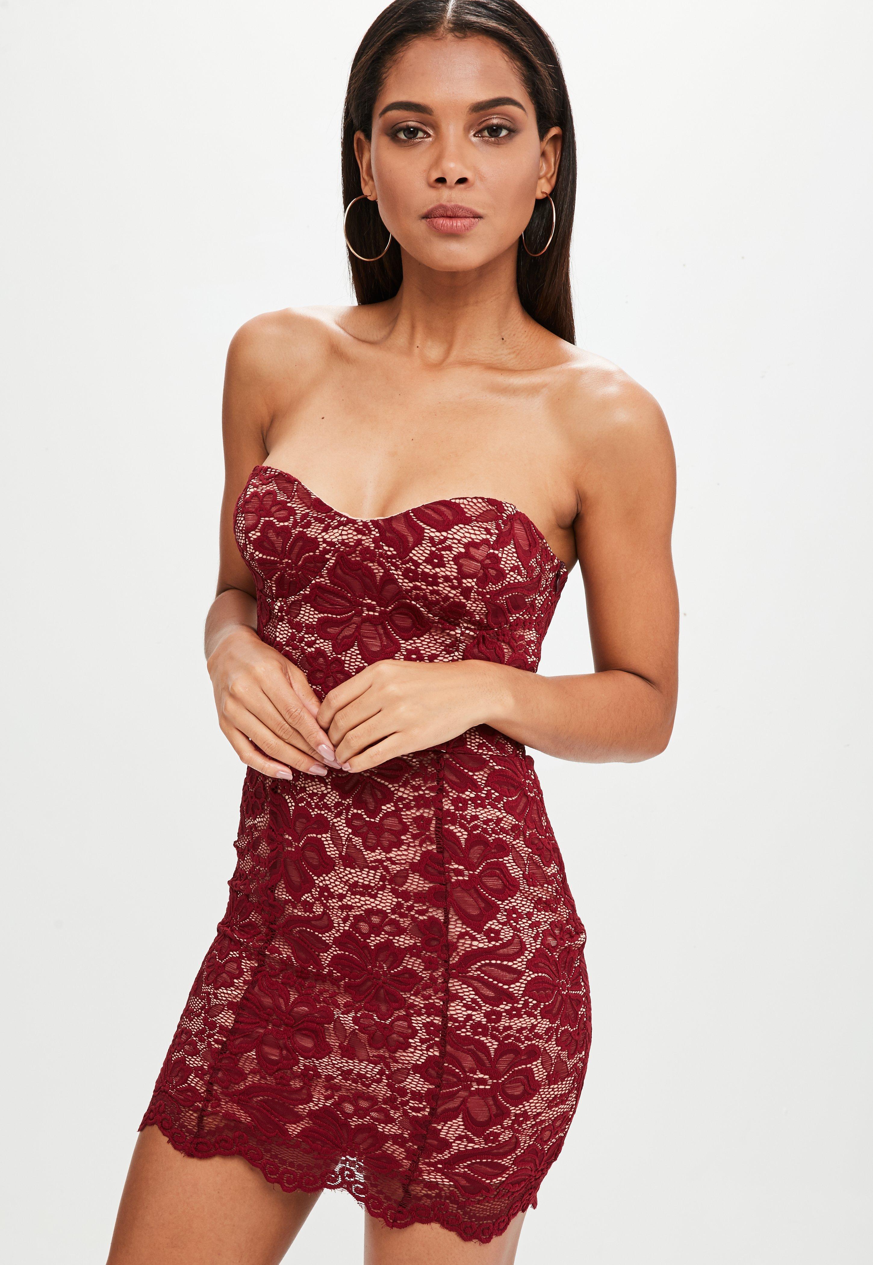 Women\'s Burgundy Dresses | Missguided