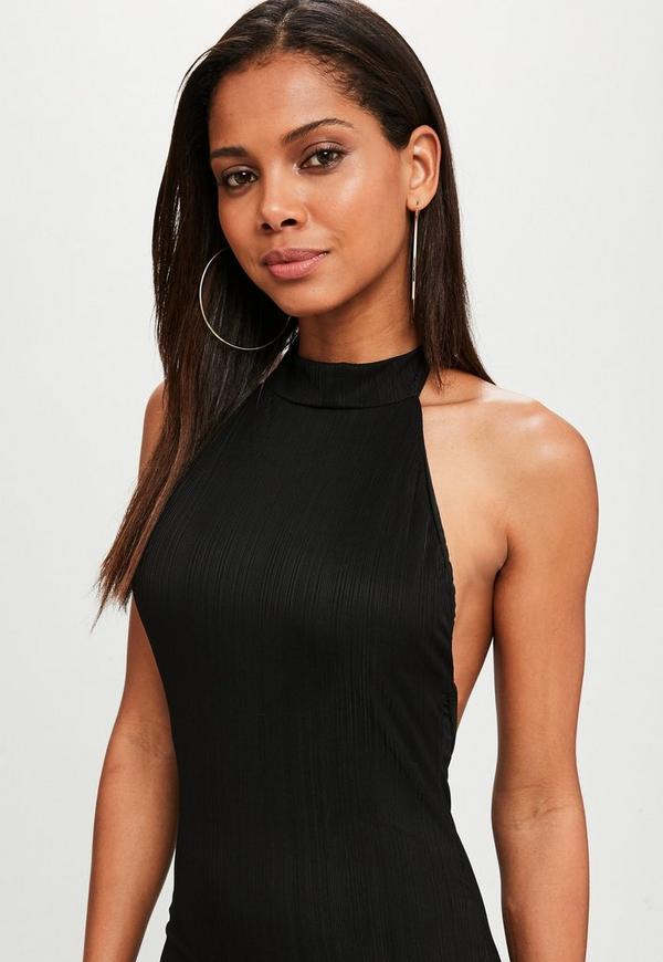 Schwarze neckholder kleider