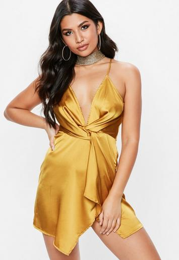 Yellow Twist Cami Dress Missguided