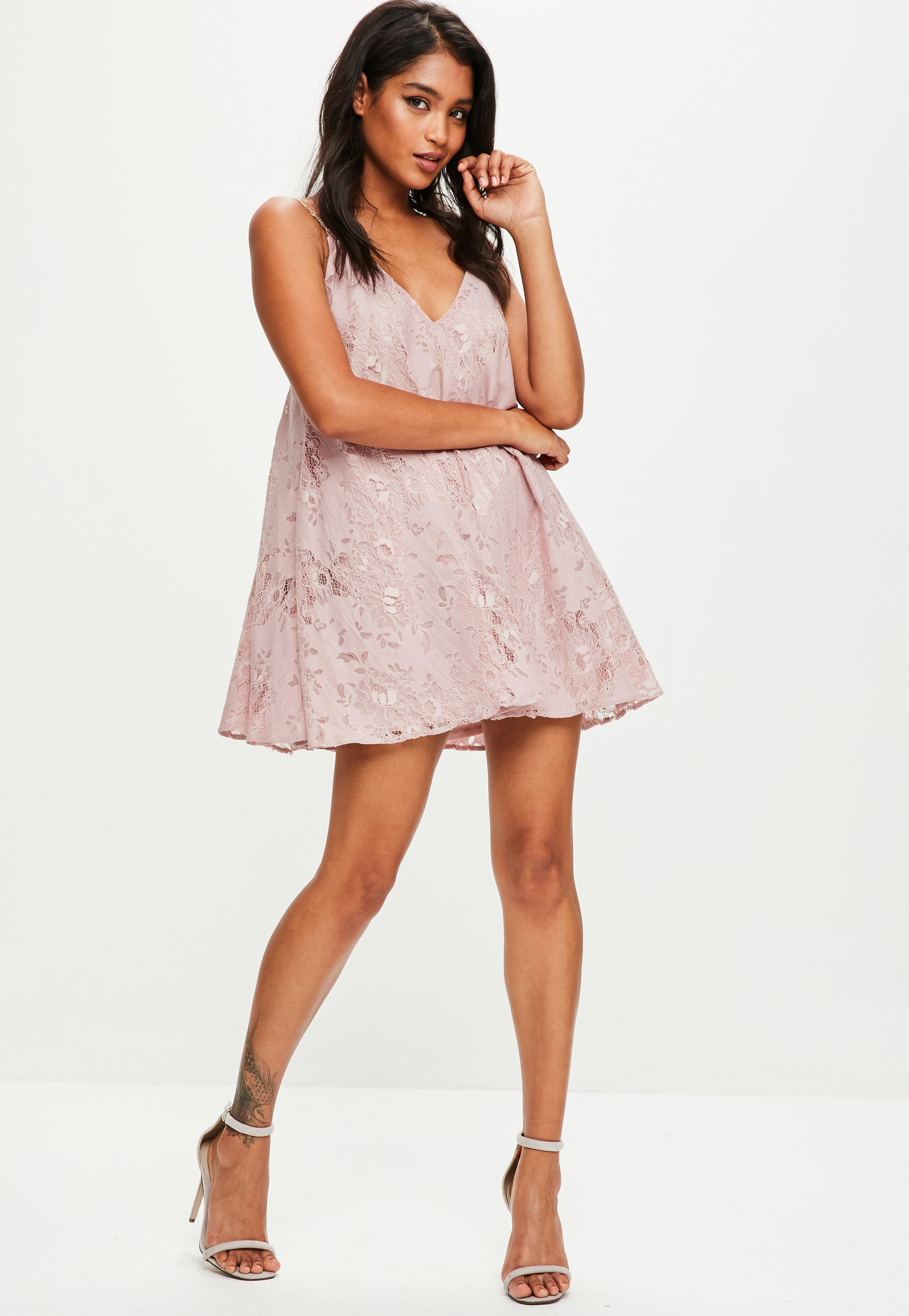 Pink Gold Chain Swing Dress | Missguided