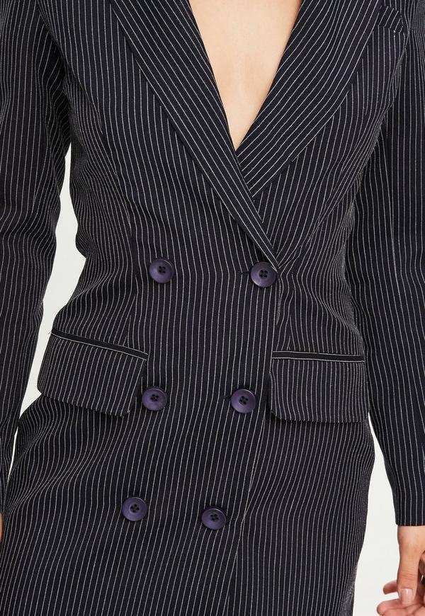 brave navy pinstripe blazer outfit 10