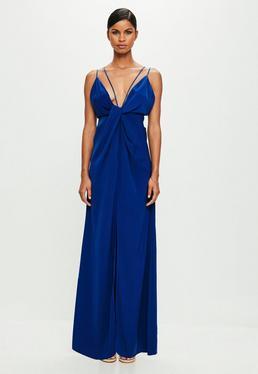 Peace + Love Blue Strappy Twist Front Dress