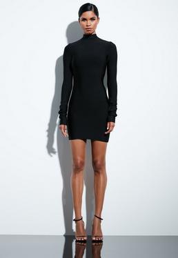 Peace + Love Black Bandage Dress