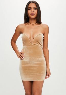 Nude Sweatheart Bandeau Dress