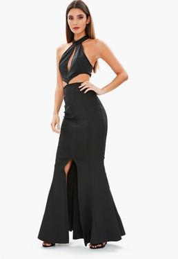 Black Bandage Keyhole Maxi Dress