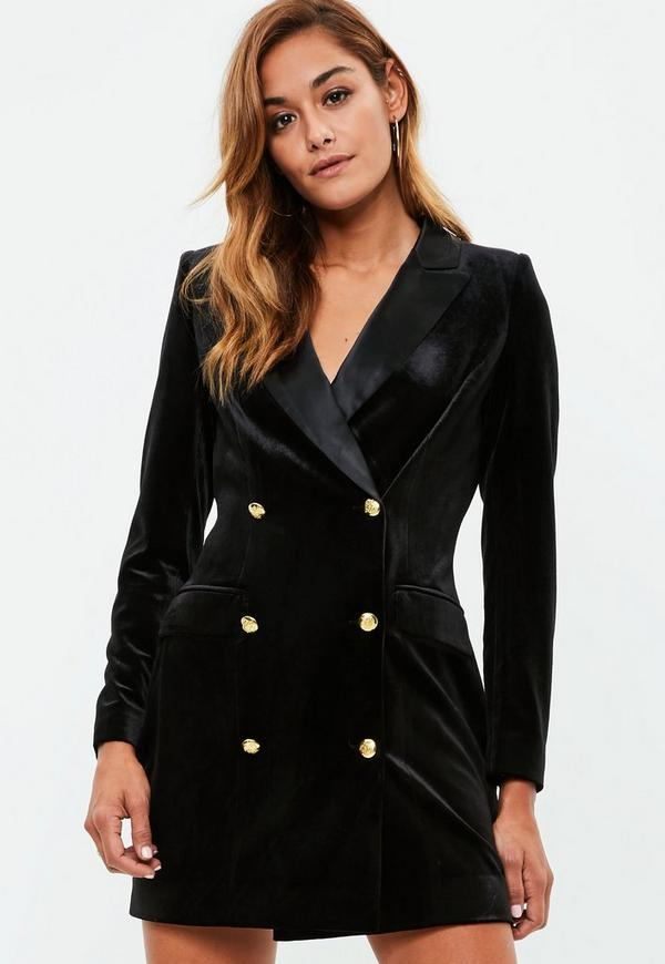 Image result for missguided velvet blazer dress
