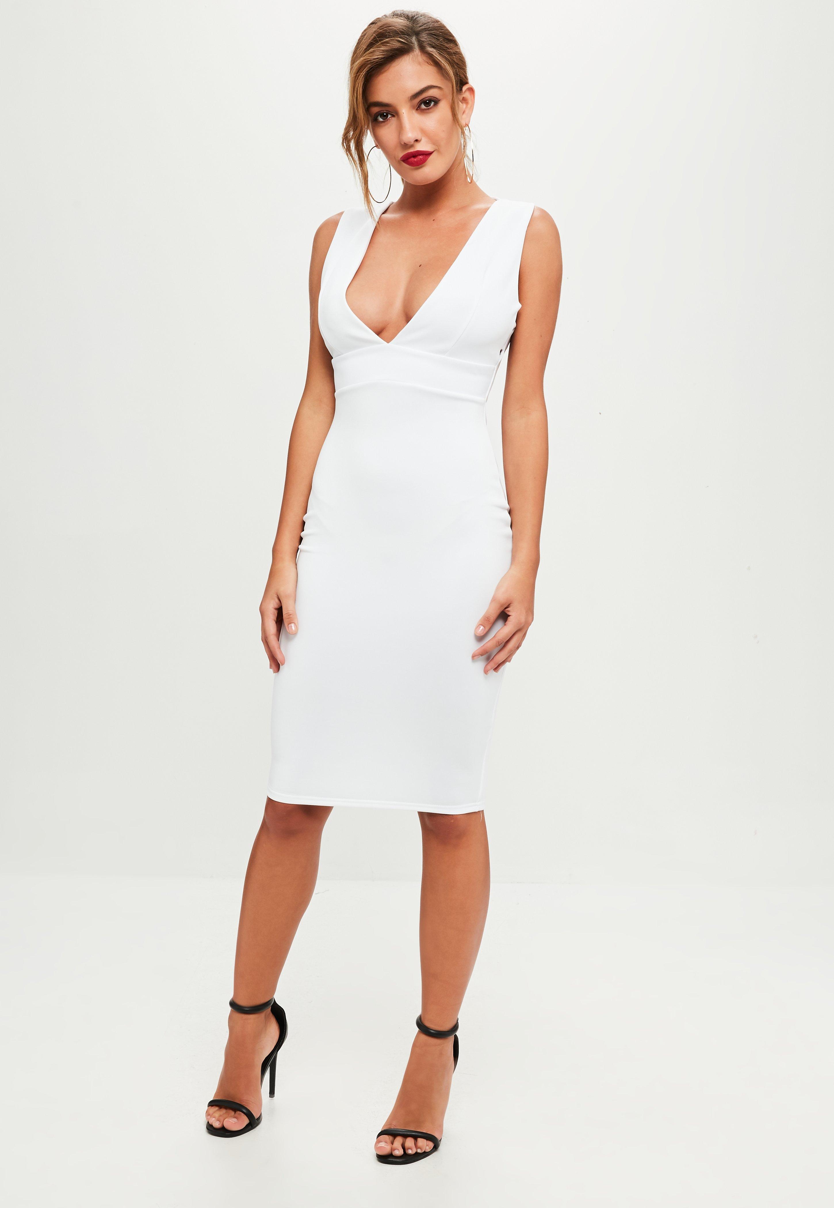 Deep V Neck Dress - Plunging Neckline Dresses | Missguided