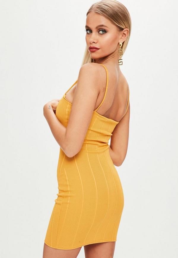 Yellow strappy dress