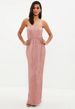 Pink Crinkle Maxi Dress