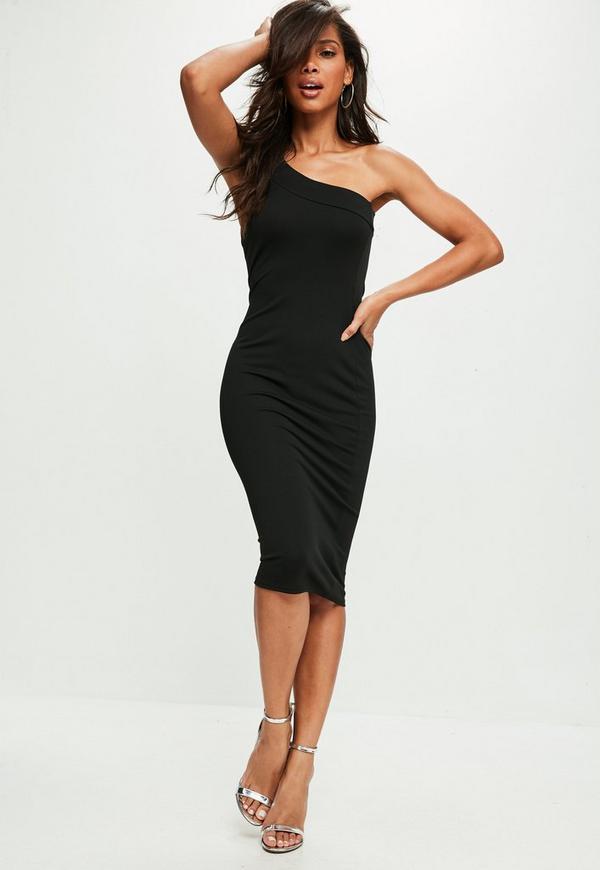 Black one shoulder cocktail dress australia
