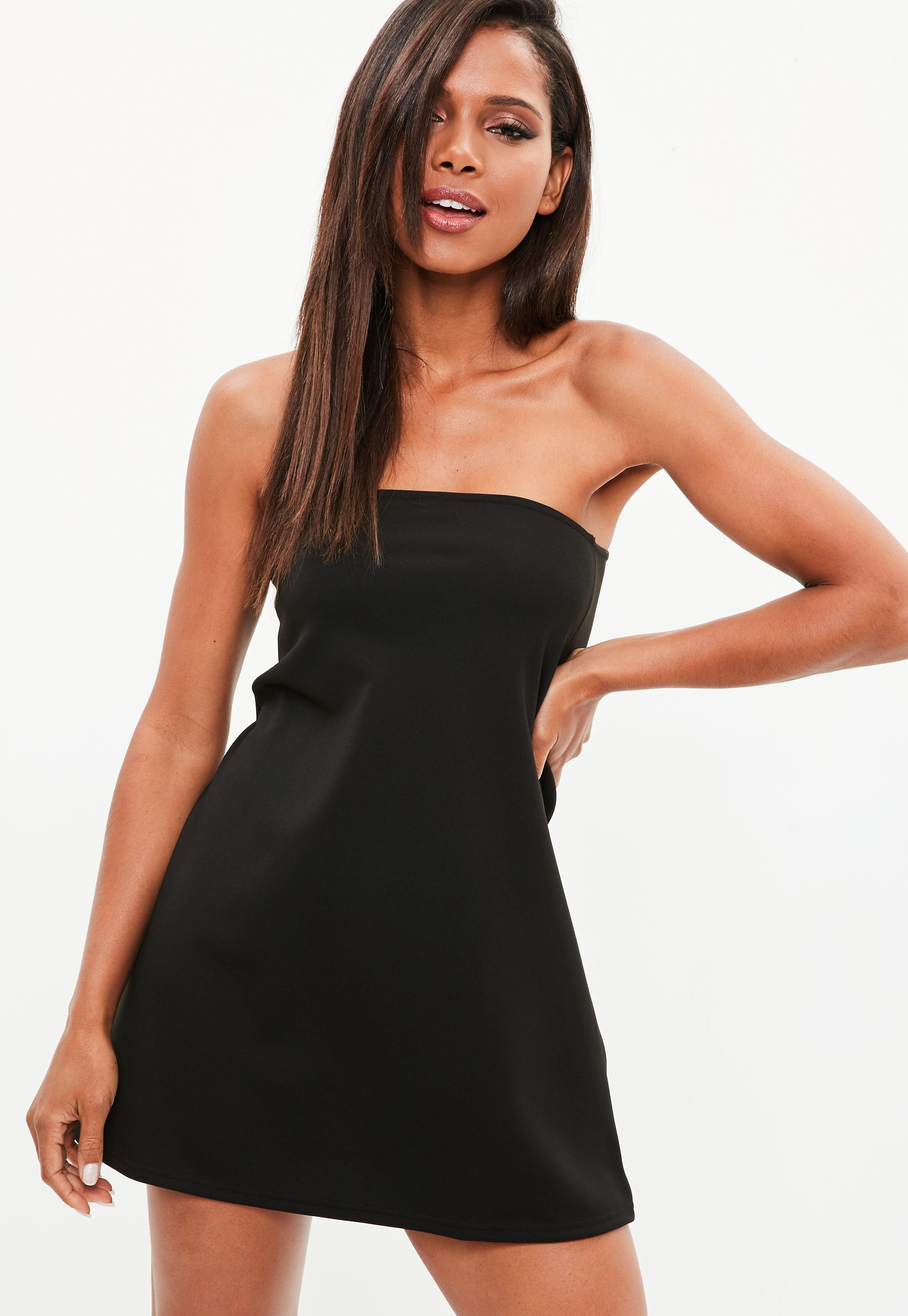 Black a Line Cocktail Dress