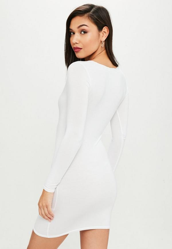 For juniors dress white long sleeve update bodycon falling off george