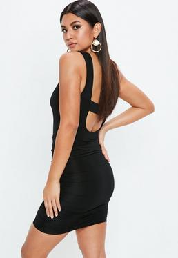 Black Slinky Scoop Dress