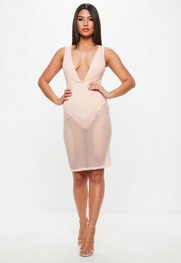 Deep Plunge Mini Dress – Fashion dresses de7710dab