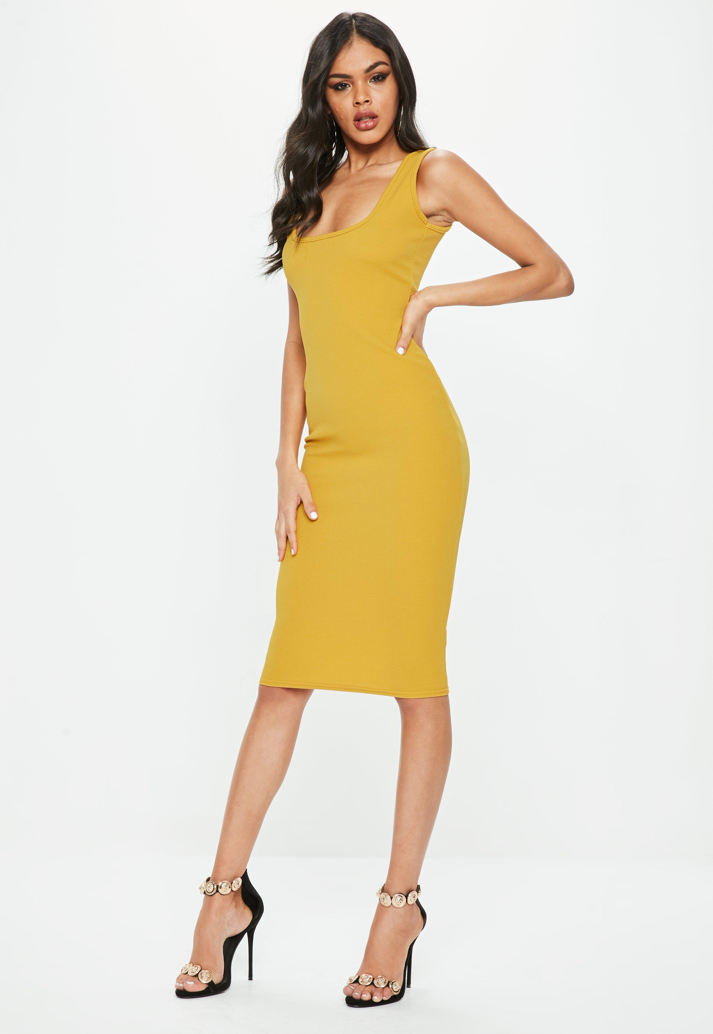 Yellow Midi Dresses | Women\'s Yellow Midi Dresses Online - Missguided