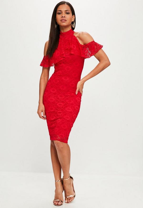 Ruffle Red Dresses