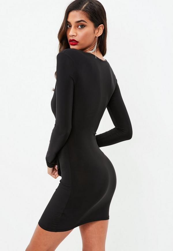 Black bodycon dress cut out look boutique business