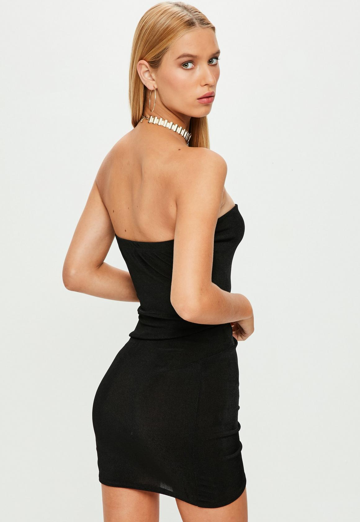 5fac0fe002c6 Missguided Black Slinky Bandeau Mini Dress, Black at £6 | love the ...
