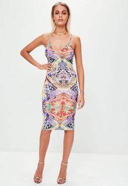 Purple Printed Dress