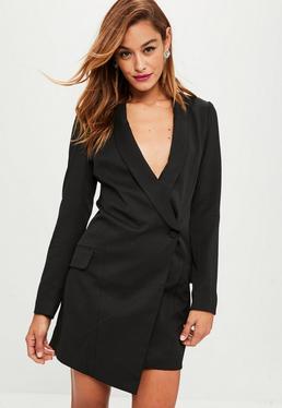 Black Asymmetric Blazer Dress Black Asymmetric Blazer Dress