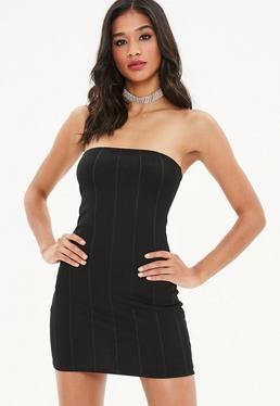 Black Bandeau Bodycon Bandage Dress