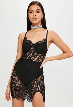 Carli Bybel x Missguided Black Lace Dress