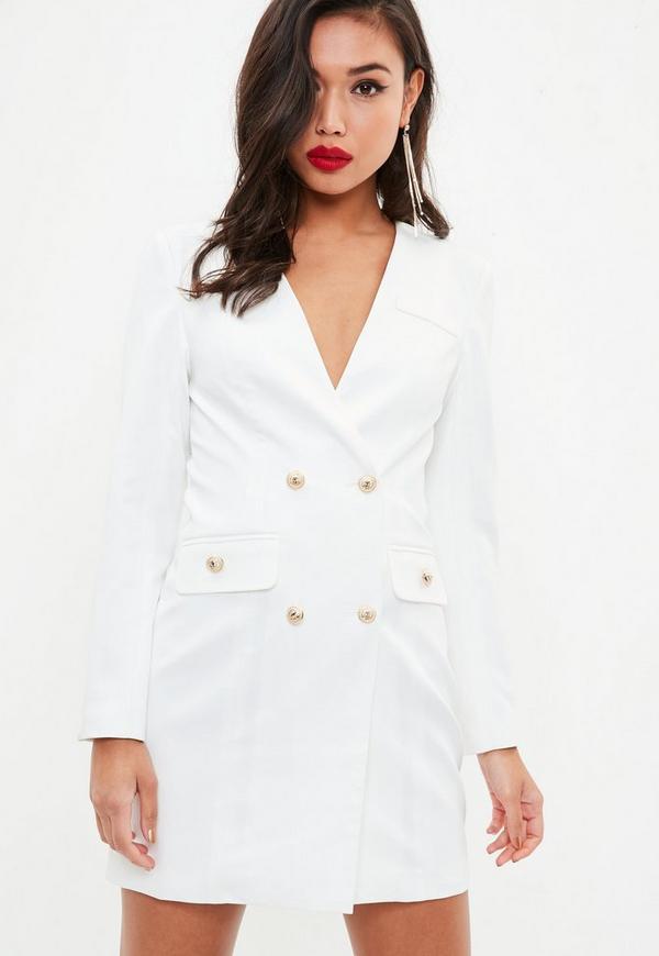6c3f96a01a19 Erin Grey Longline Blazer Dress | 2019 trends | xoosha