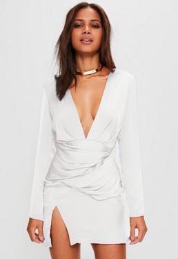 Cream Silky Panelled Dress