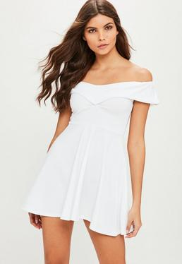 white dresses ivory little white dresses missguided