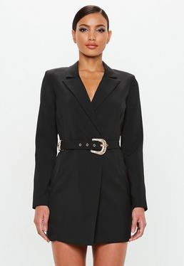 Peace + Love Belted Blazer Dress Black