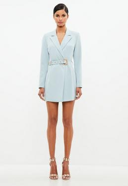 Peace + Love Blue Belted Blazer Dress