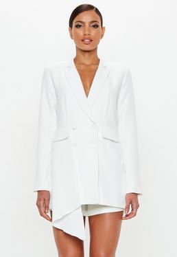Peace + Love Vestido blazer en blanco