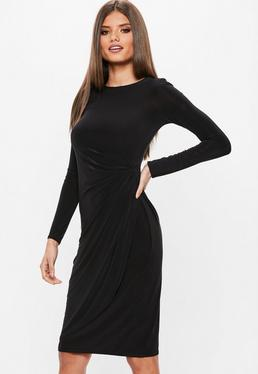 Simple Black Dress with Sleeves