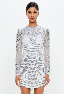 Plain White Mini Dress