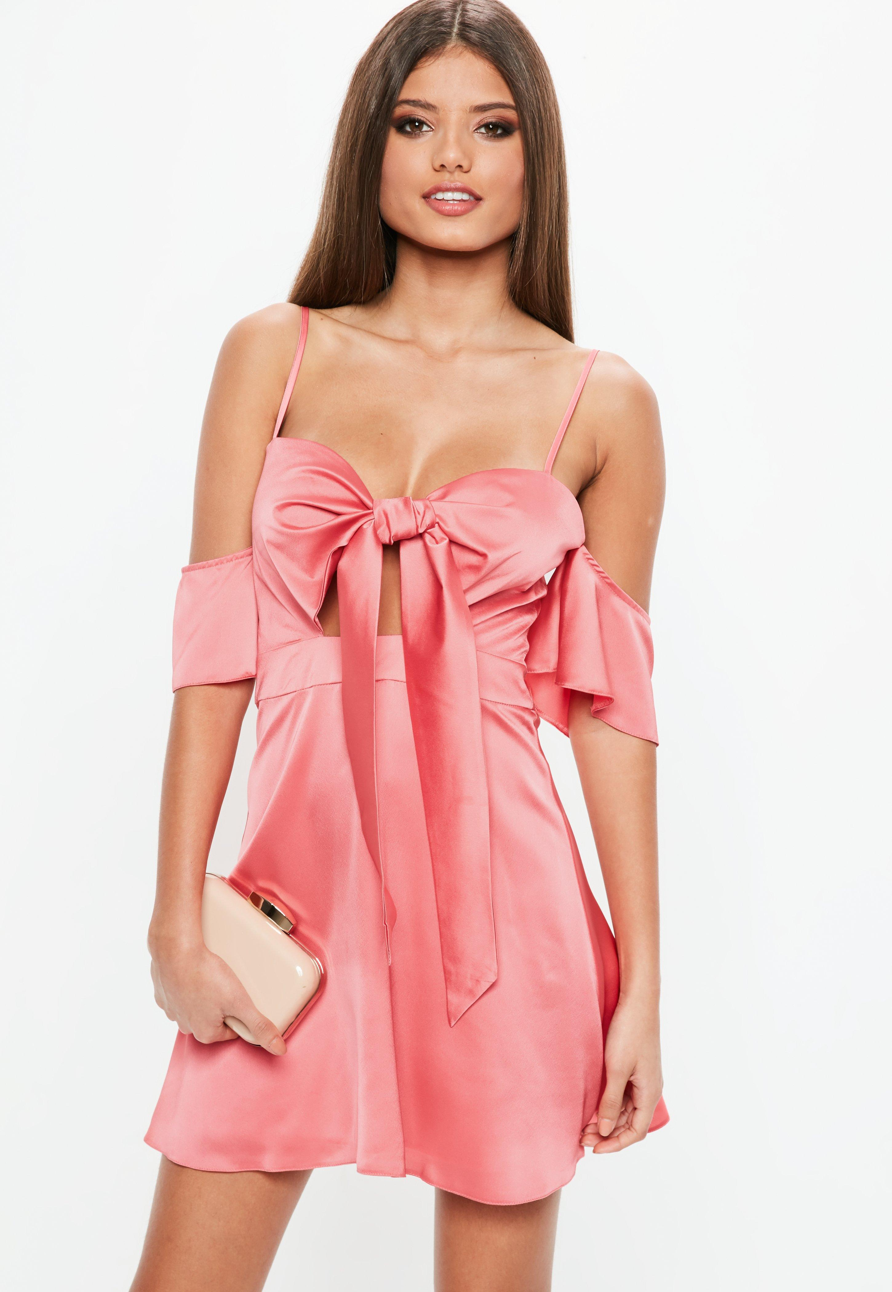 Vestidos de satén | Comprar vestidos de satén online - Missguided