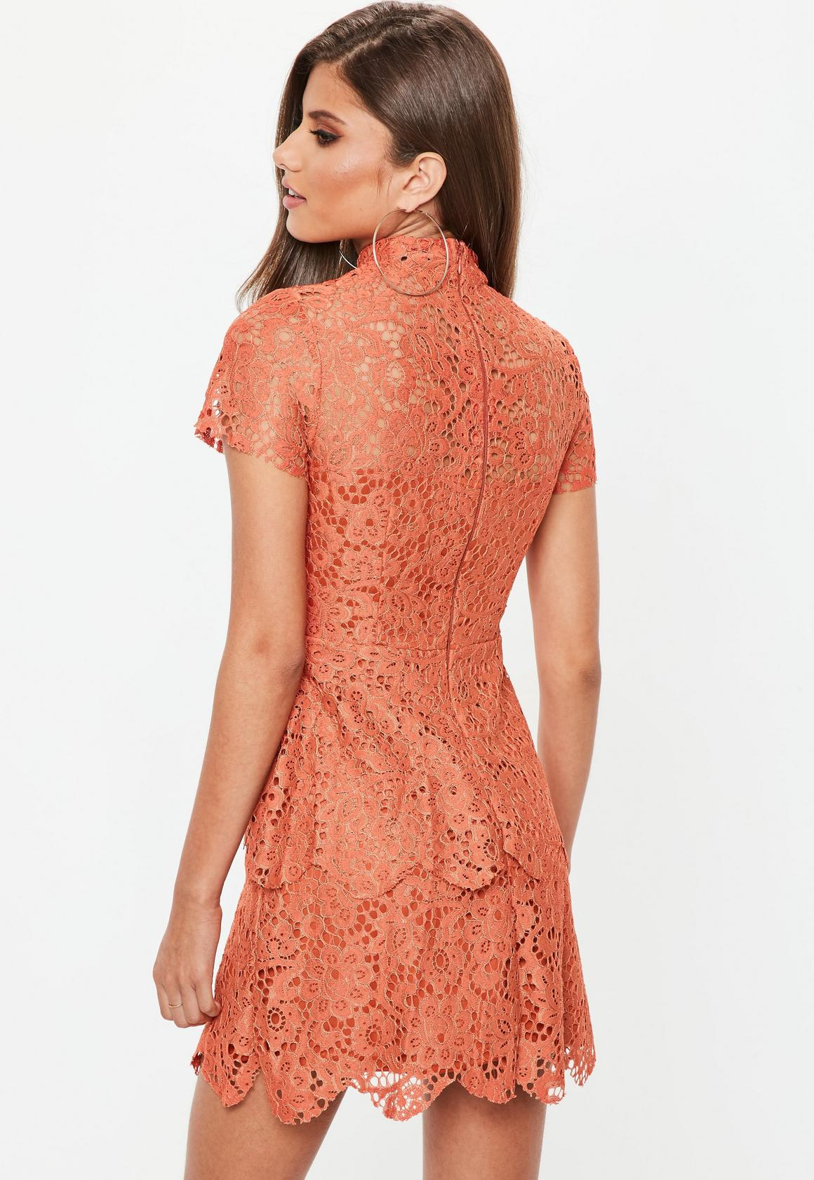 29cc8b063c85 Missguided Short Sleeve Lace Double Layer Skater Dress at £12 | love ...