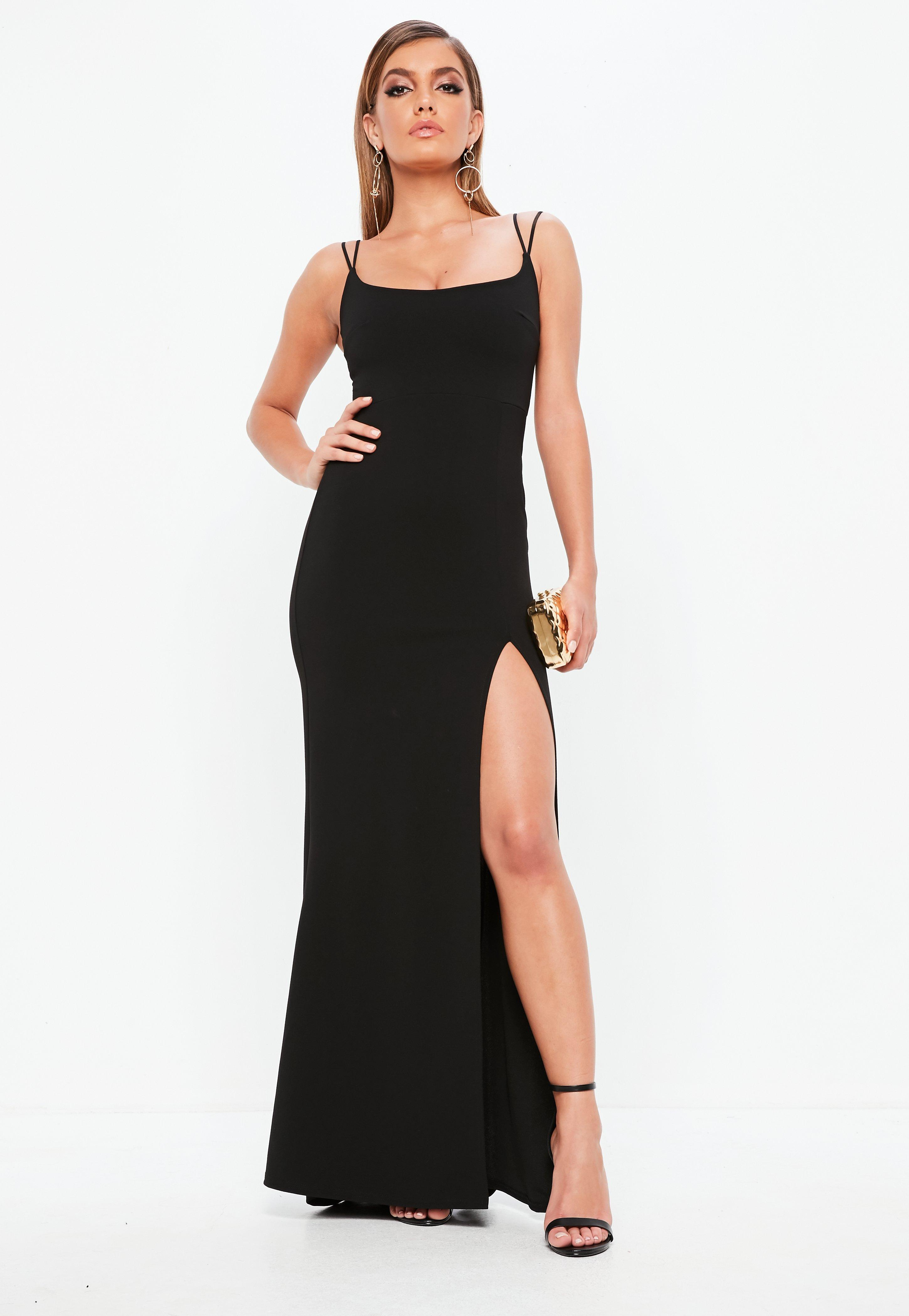 Long Black Cocktail Dresses