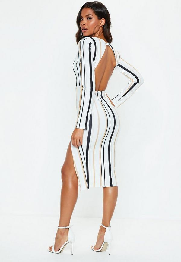 Bodycon dress with flats