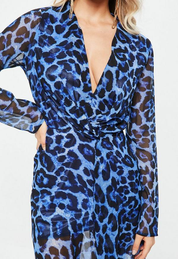 Blue Plus Size Dress