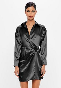 Dark Satin Dress