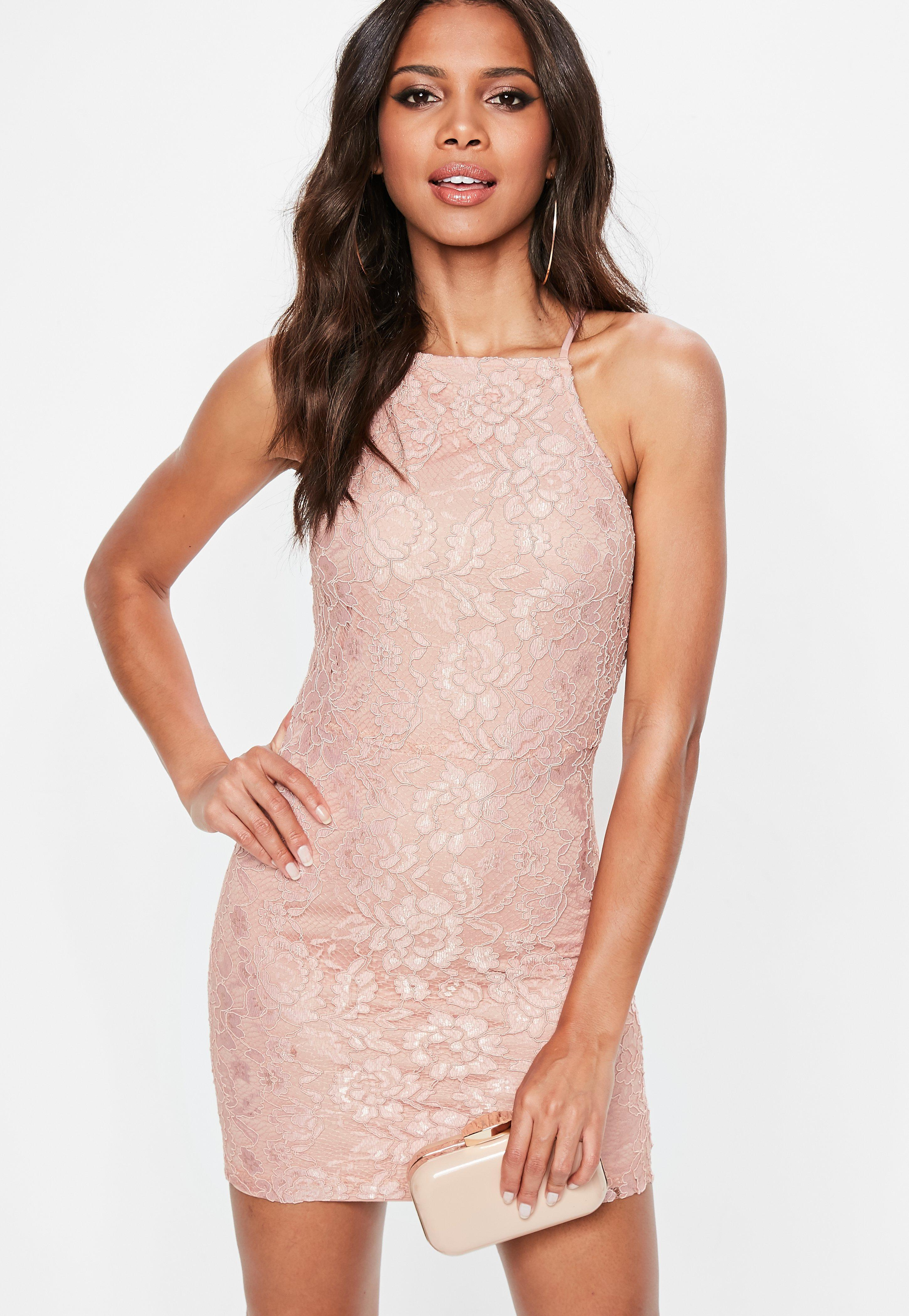 Lace bodycon dress catalog photo