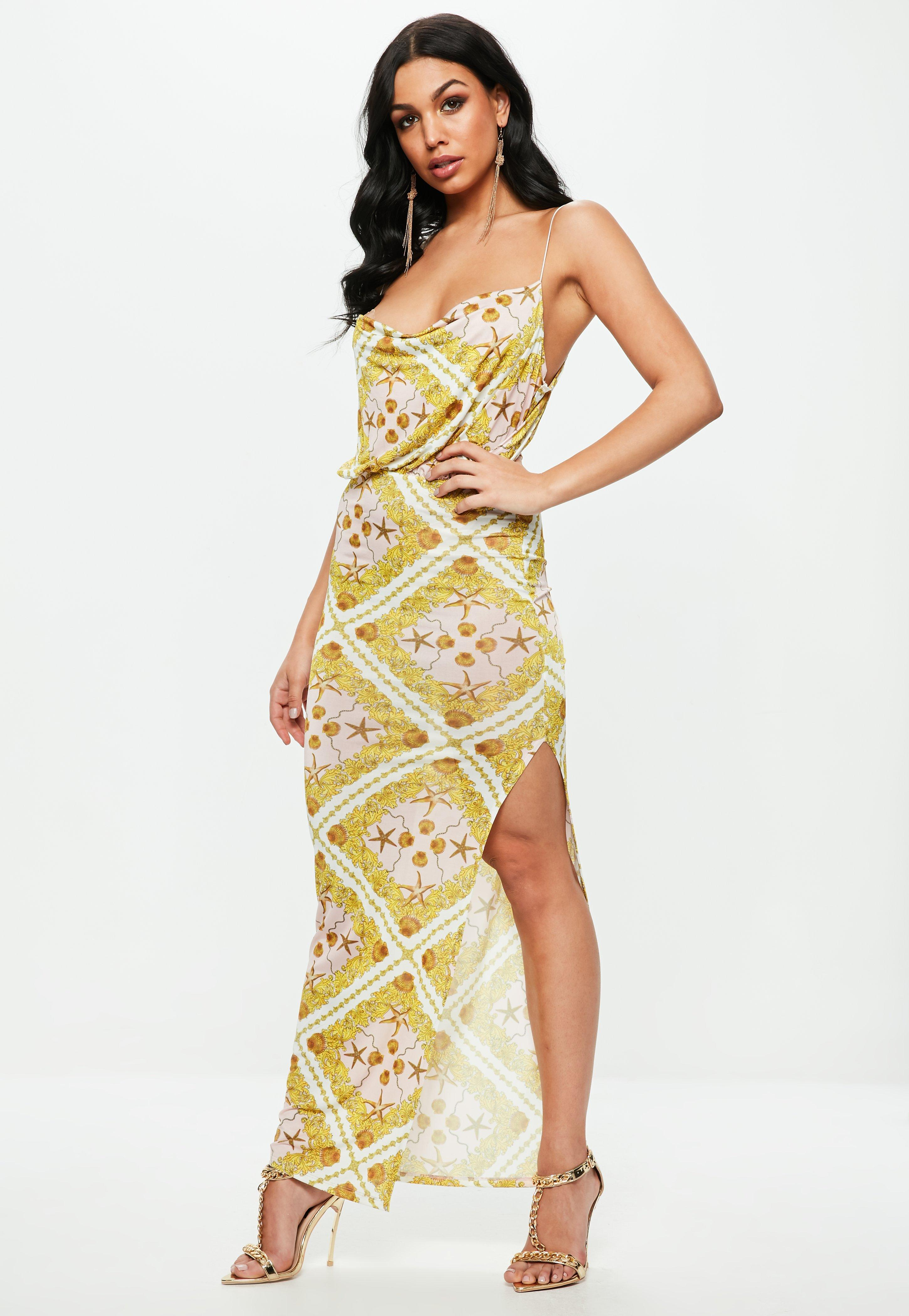 Get Authentic Missguided Printed Cowl Maxi Dress Buy Cheap Get To Buy Huge Surprise Outlet Order Online Looking For Cheap Price jBZqQt8SO