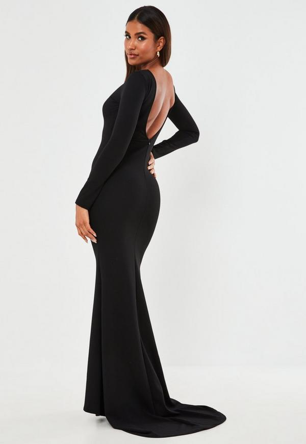 Robe Longue Noire 224 Tra 238 Ne Missguided