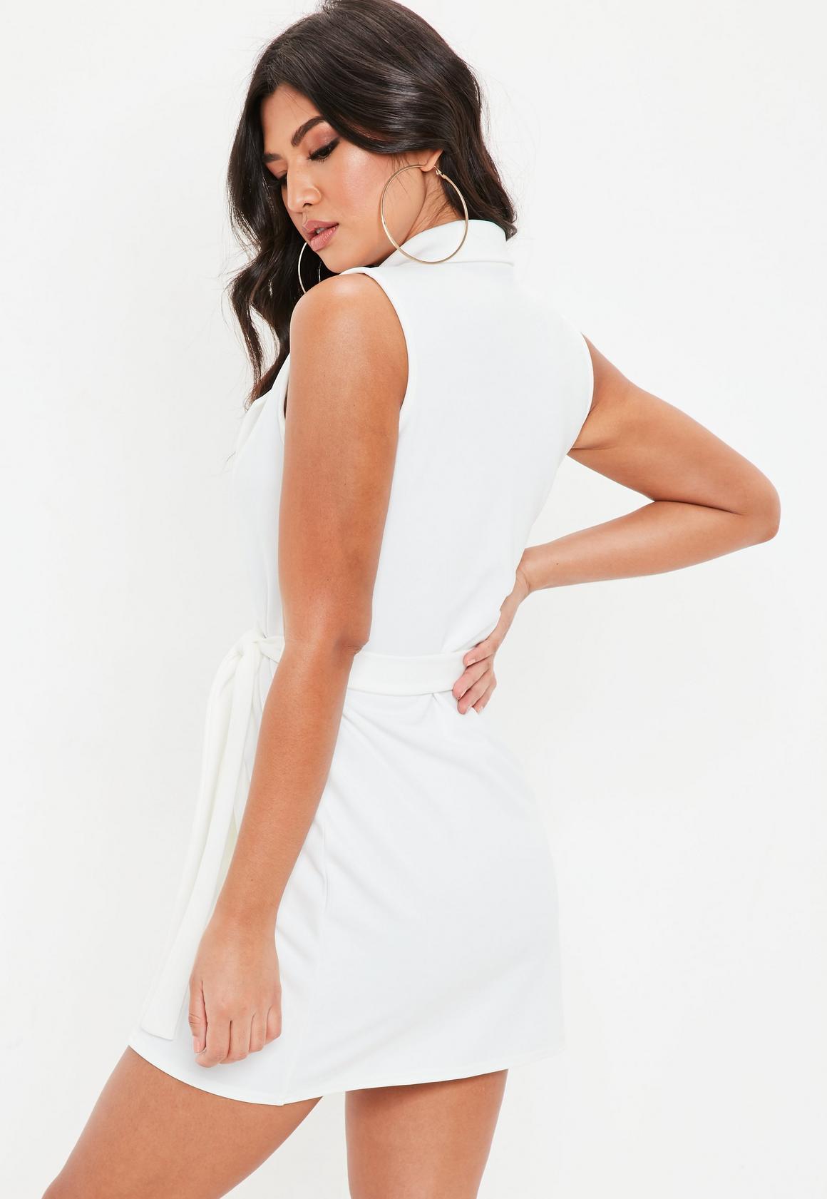 675340b09fb Missguided Sleeveless Stretch Crepe Blazer Dress at £22