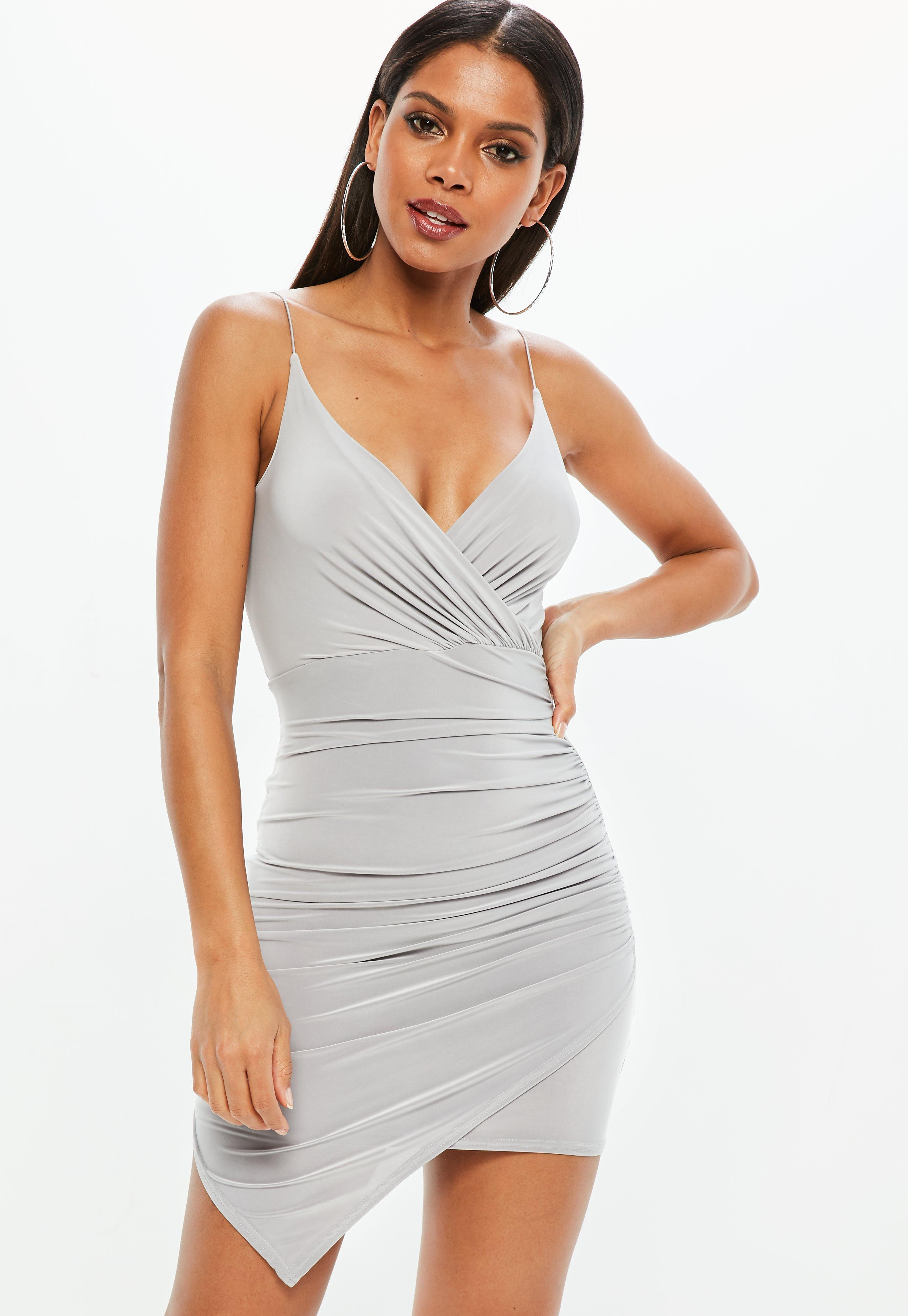 dd72949725a0 Grey Bodycon Dresses