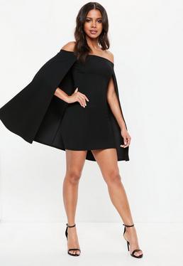 Enge schwarze abendkleider